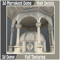 3d marrakesh dome model