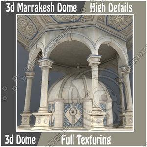 3d marrakesh dome model