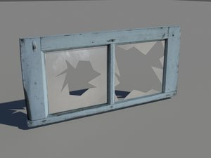 3d model wooden window
