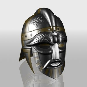 3d model of viking helmet
