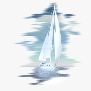3d yacht oceanis -