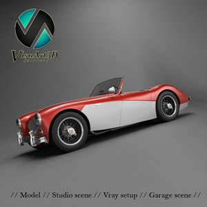 austin healey 100 roadster 3d model