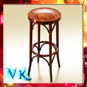 3d photorealistic bar stool model