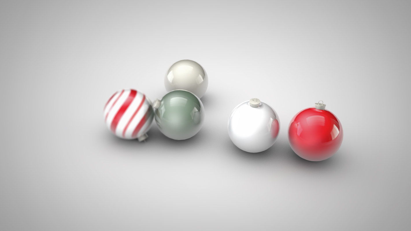 christmas ball ornaments c4d