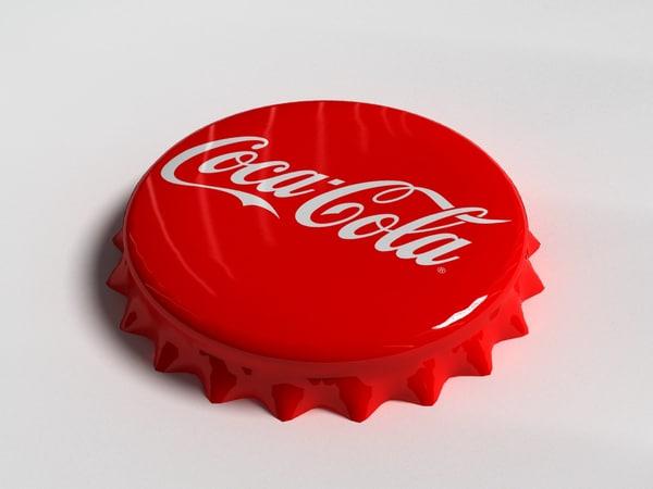 cola bottle tin cap 3d 3ds