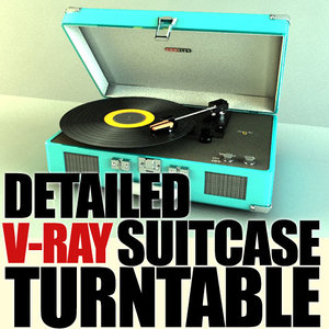 crosley suitcase turntable 3ds
