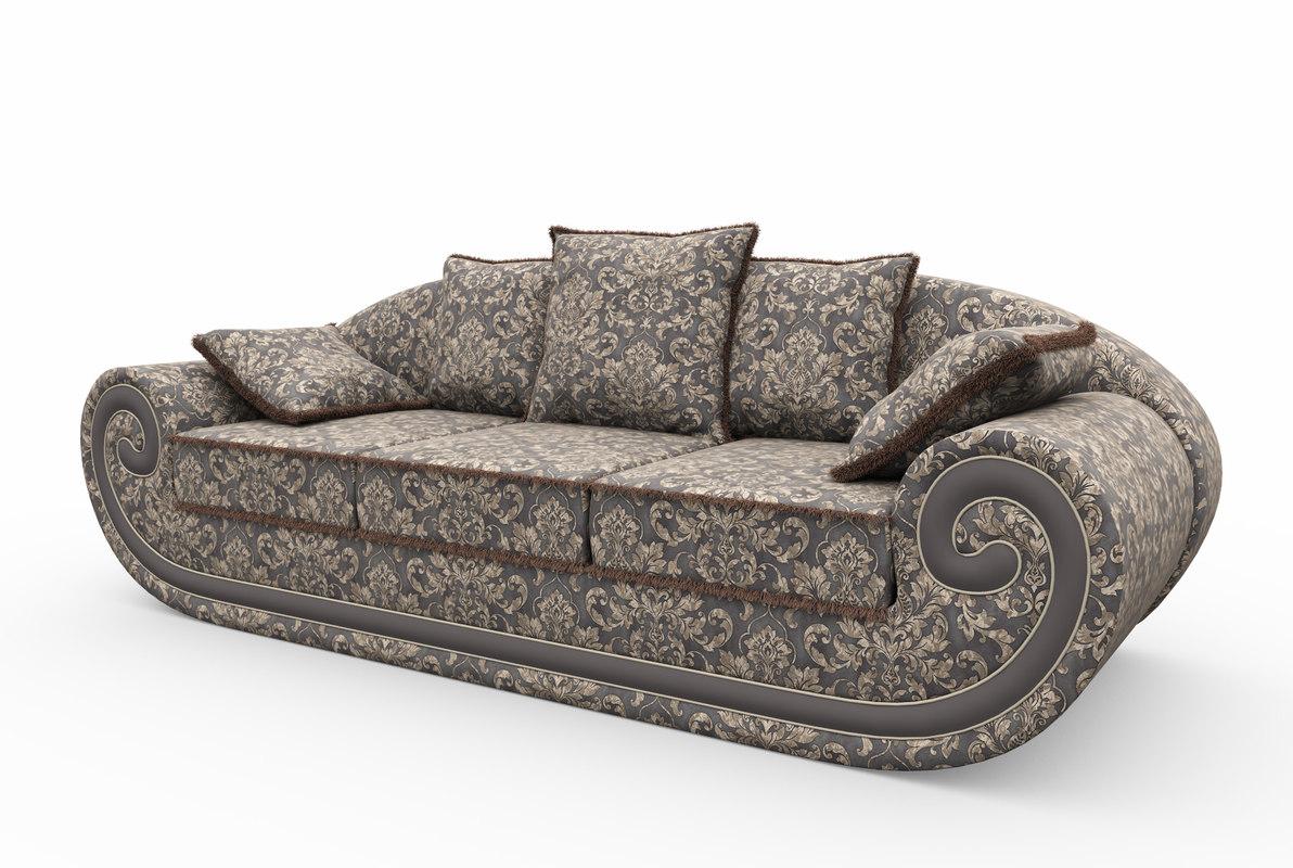 3d max classic sofa