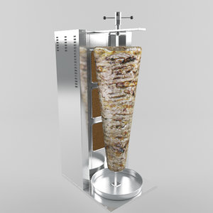 doner meat machine 3d max