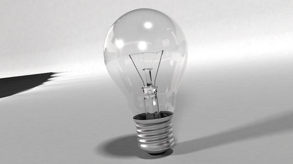 3d electric lightbulb