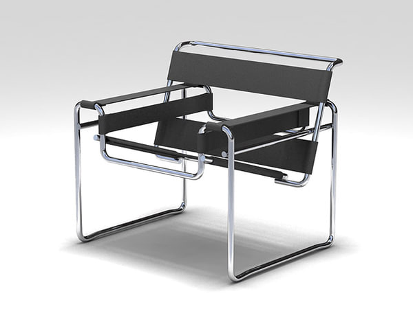 3d model chair wassily