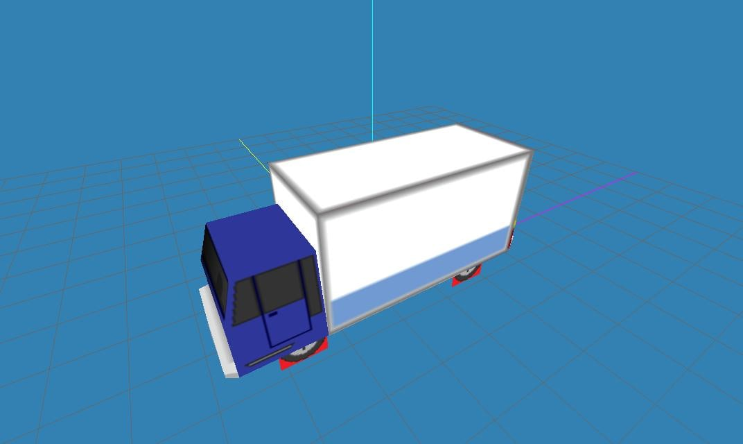 3d model low-poly truck