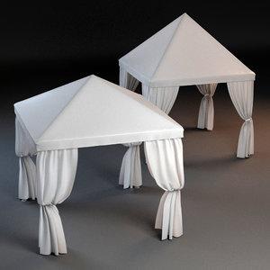 3d model 2 partytents tent