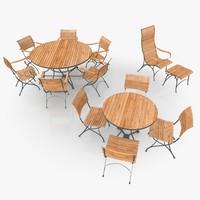 3d model classical patio furniture scene