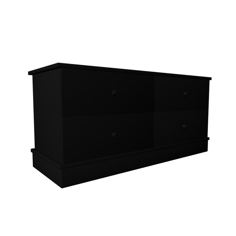 3d black table