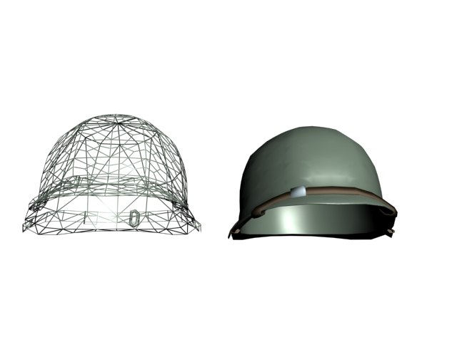 3ds max military helmet