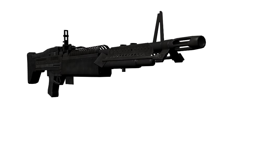 machine gun fbx