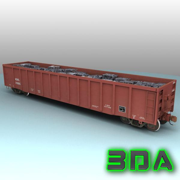 e530 gondola rails cargo 3d max