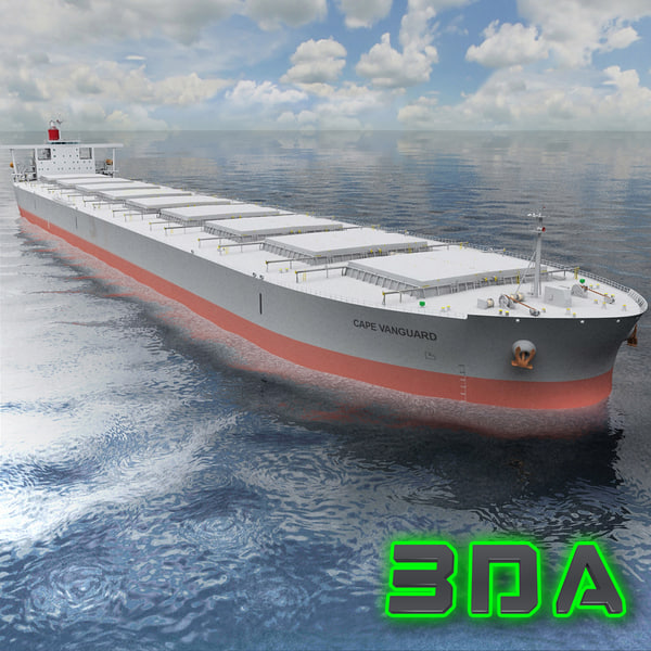 3d bulk carrier ship cargo model
