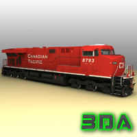 ge es44ac locomotive engines 3d model