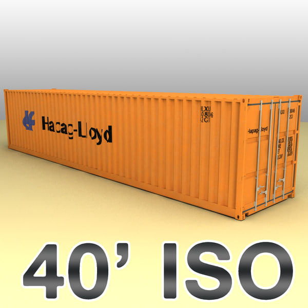 40 feet container ships 3d model