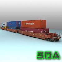 3d model s635 car rails
