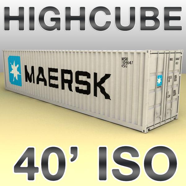 40 feet container cargo ships max