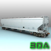 c214 covered hopper cargo 3d model