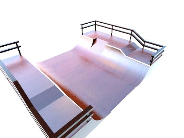 3d bmx park ramp