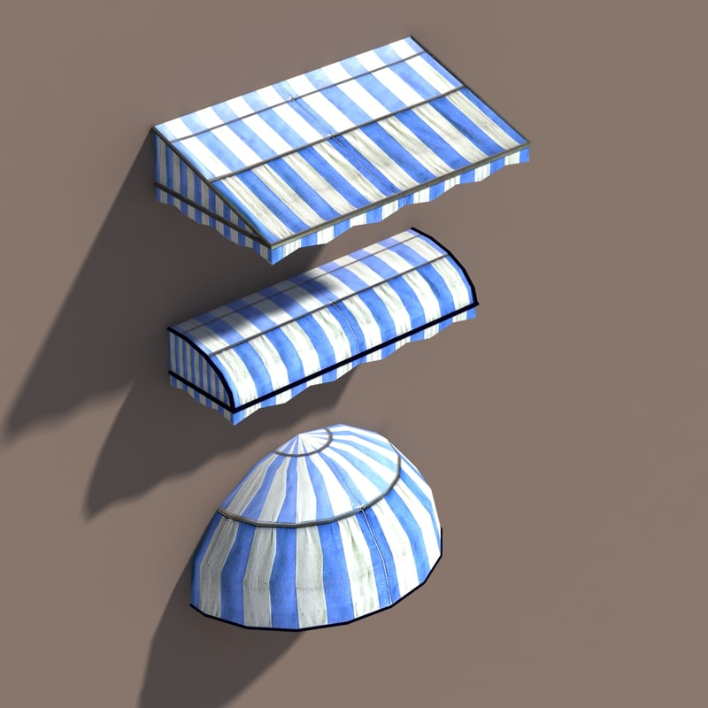 awning polys modelled 3ds