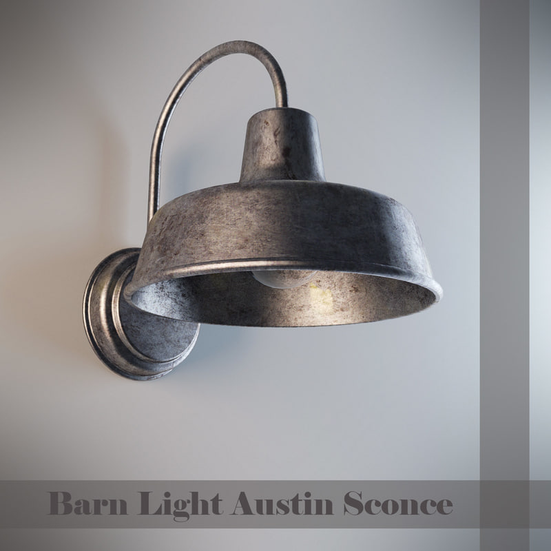 barn light austin 3d model