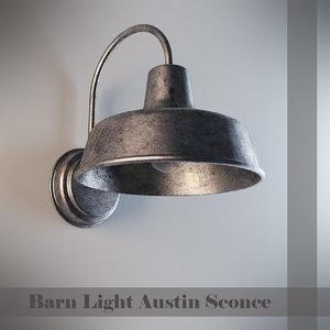barn light austin 3d model