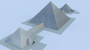 blend glass pyramids