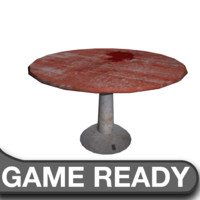 3ds max table bloody cafe