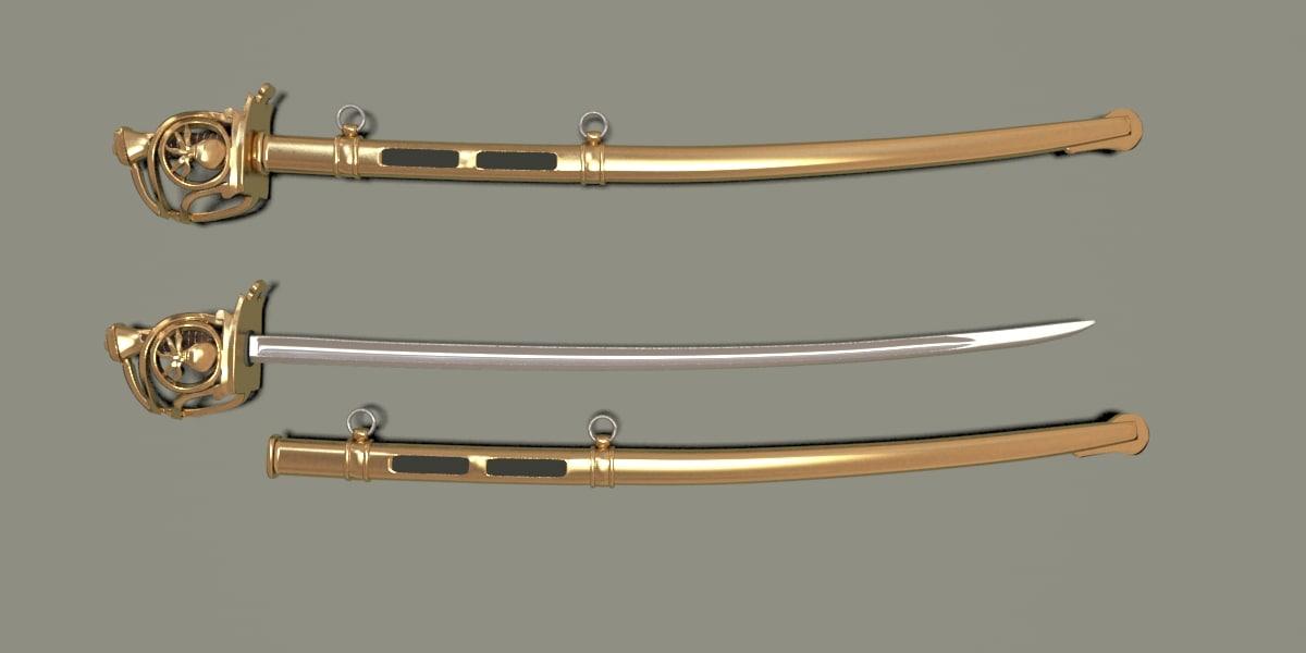 sabre horse grenadier 3d max