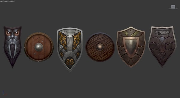 shields 3d fbx