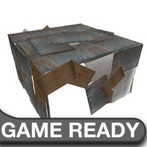 3d slum shack model