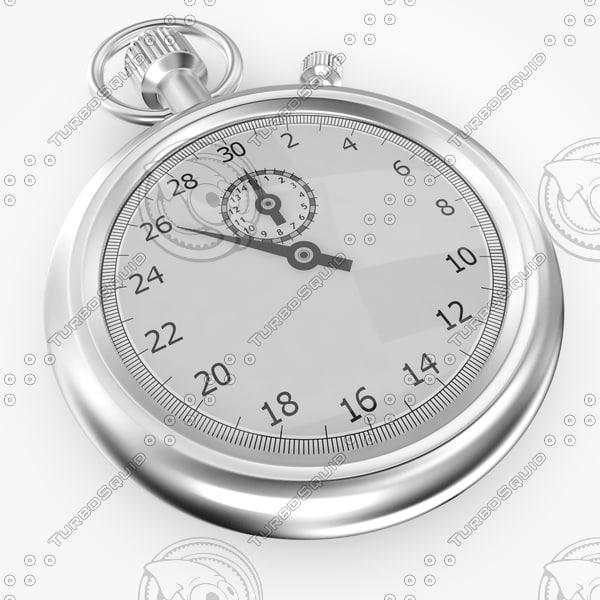 stopwatch watch 3d max