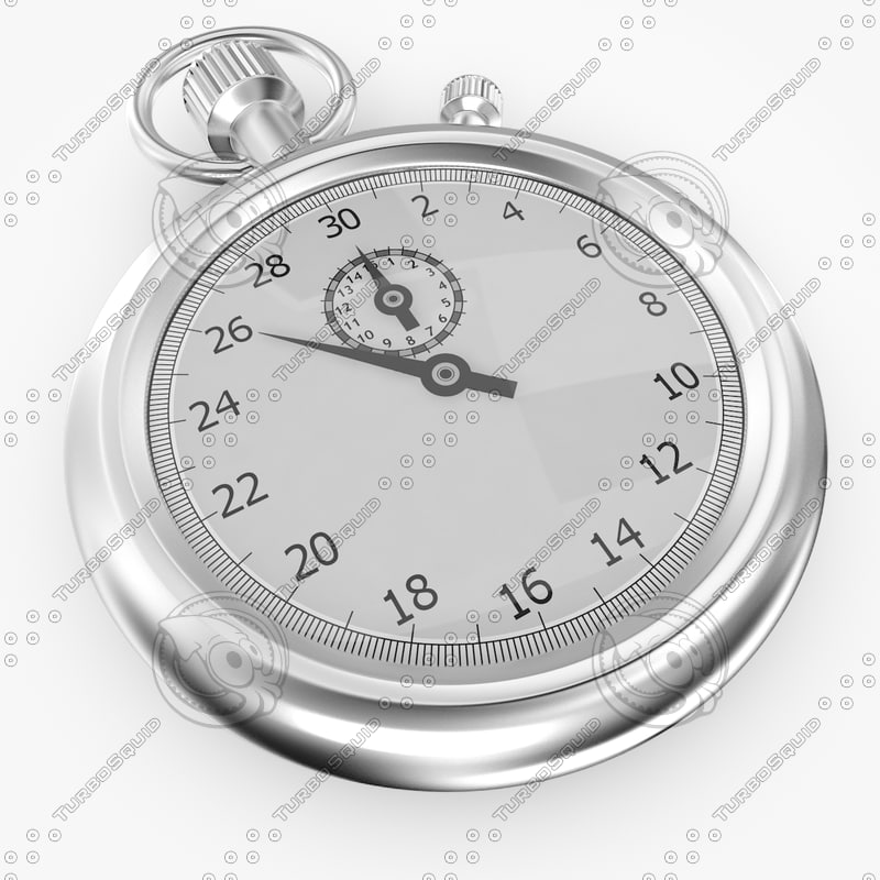 stopwatch watch 3d max