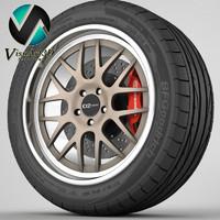 dforged2 rim tyre 3d 3ds