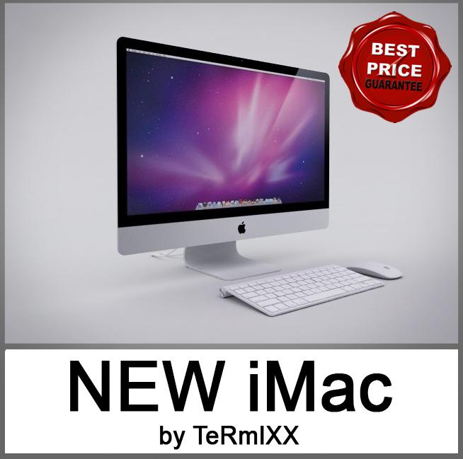 new imac 27 computer 3d model