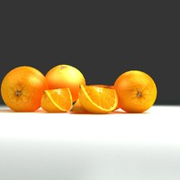 orange fruit naranja 3d max