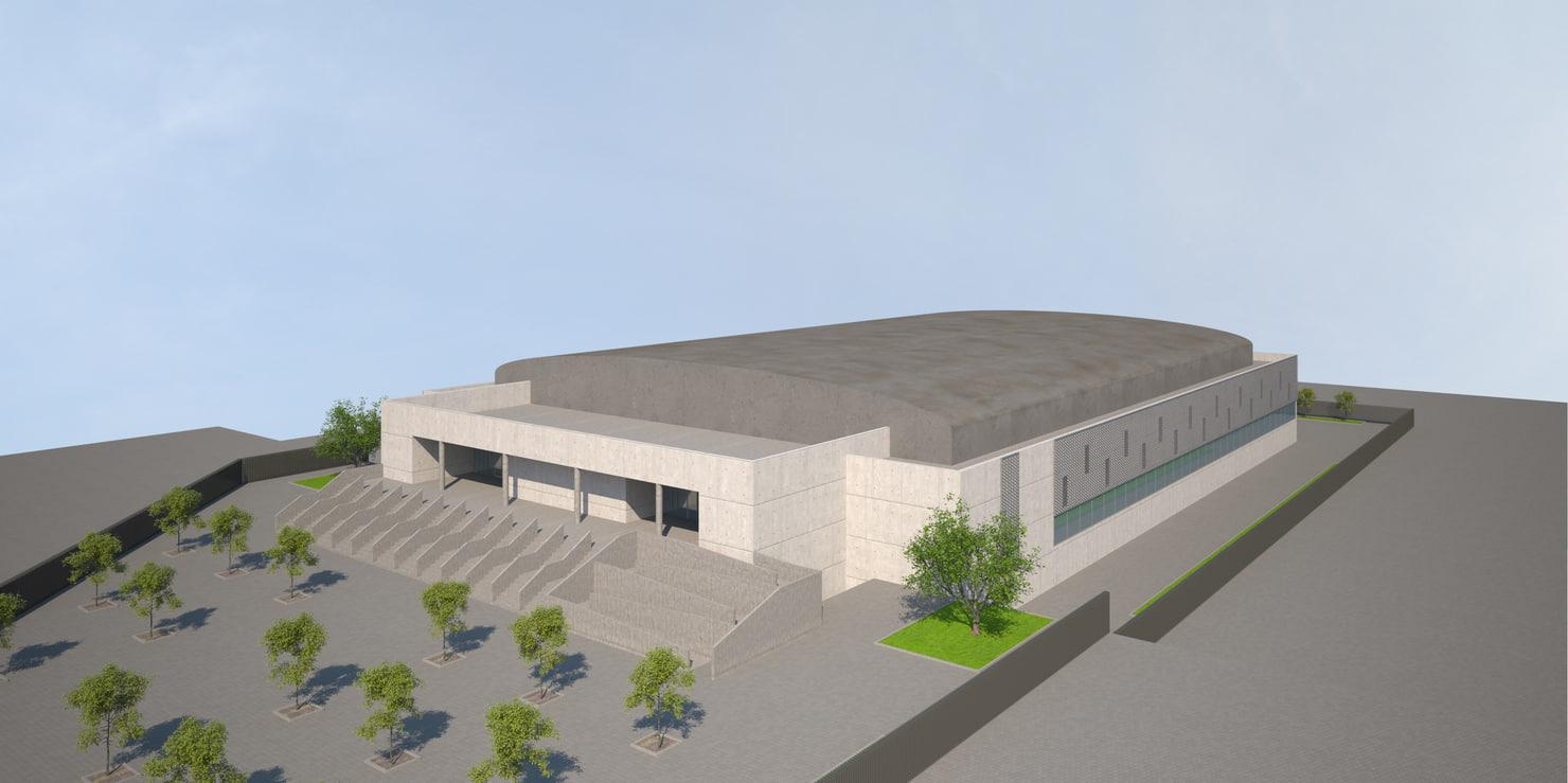 ice rink 3d model