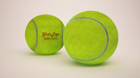 Realistic Tennis Ball Collection - Dirty - Empry - with logo