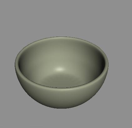 3d bowl model