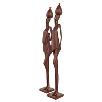 3d model african wooden figurines