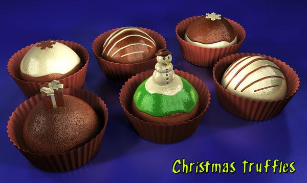 3d chocolates truffles model