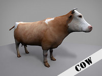3d model of cow bovine