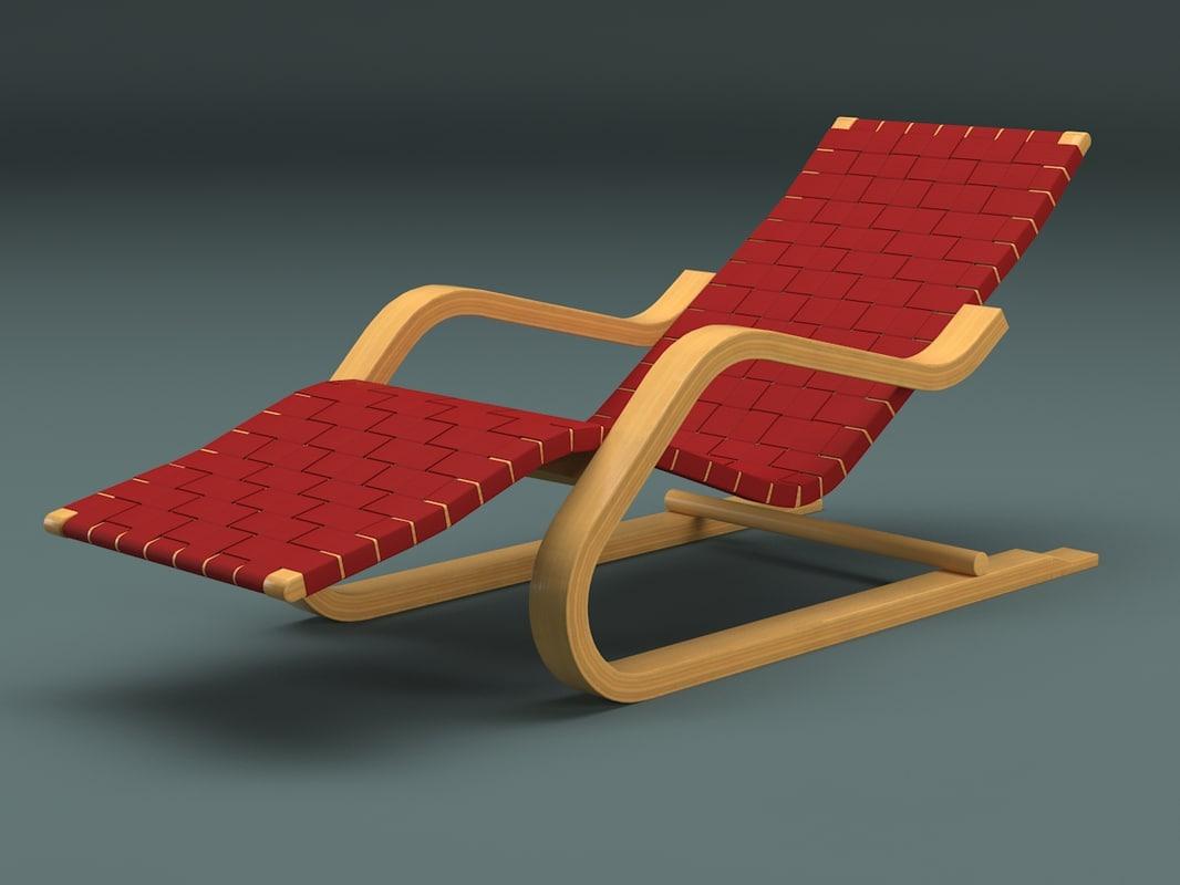 3d model lounge chair