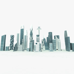 highrise buildings skyscrapers 3d max