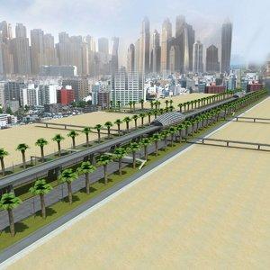 3d highway dubai road model